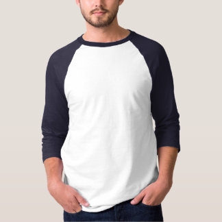 De Raglan básico 2 da luva dos homens 3/4 Tshirt