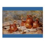 De Renoir a vida ainda com cebolas (1881) Cartão Postal