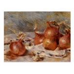 De Renoir a vida ainda com cebolas (1881) Cartoes Postais