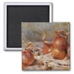 De Renoir a vida ainda com cebolas (1881) Imã De Refrigerador