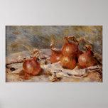 De Renoir a vida ainda com cebolas (1881) Impressão