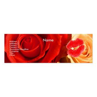 """De """"rosas vermelhos & amarelos de artista cartão de visita skinny"""