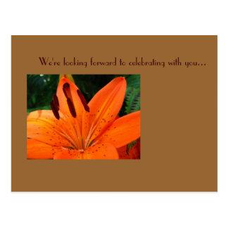 De RSVP cartão tigerlily Cartão Postal