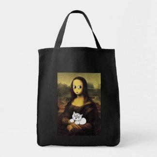 """De """"saco do sorriso Mona Lisa"""" Sacola Tote De Mercado"""