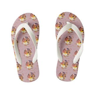 de sandálias lilás com rato handgemalter velho com