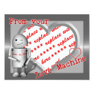 ♥ de seu ♥ da máquina do amor convites