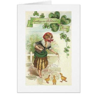 De St Patrick irlandês da manhã do vintage cartão
