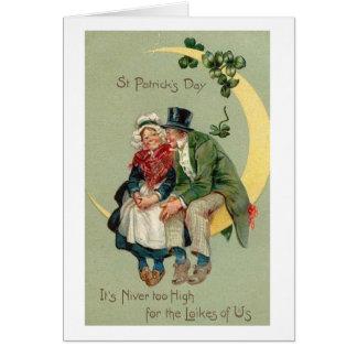 De St Patrick velho do casal do Victorian cartão