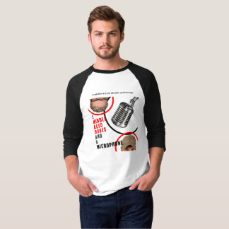 De t-shirt básico do Raglan da luva dos gajos dos Camiseta