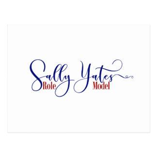 """De """"tipografia do modelo Sally Yates"""", 2 Cartão Postal"""