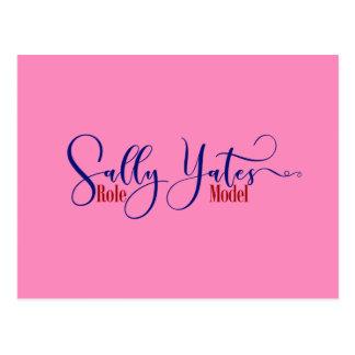 """De """"tipografia do modelo Sally Yates"""", 3 Cartão Postal"""
