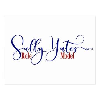 """De """"tipografia do modelo Sally Yates"""" Cartão Postal"""