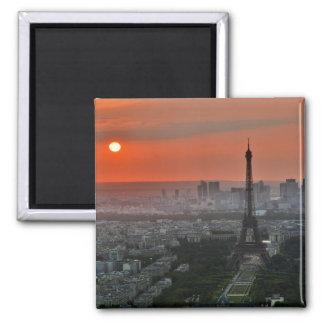 """de """"torre Eiffel Paris """" Ímã Quadrado"""