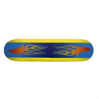 """De """"tubarões Flameing """" Shape De Skate 20cm"""