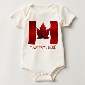 De uma peça só orgânico da lembrança da bandeira macacãozinhos para bebê