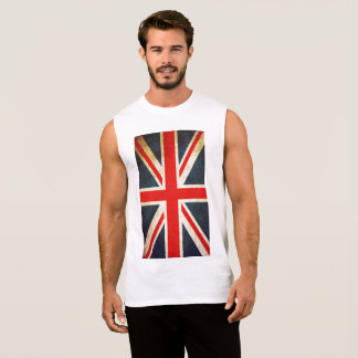 De Union Jack da bandeira dos homens TShirt sem Regata