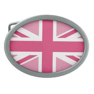 ~ de Union Jack em rosa femininos