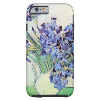 De Van Gogh vaso com íris, arte da vida ainda do Capa Tough Para iPhone 6