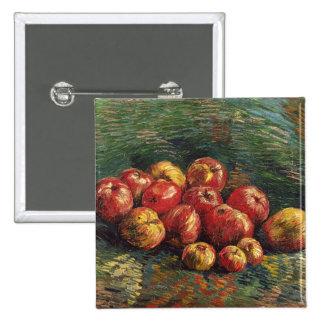 De Van Gogh vida ainda com belas artes das maçãs Bóton Quadrado 5.08cm