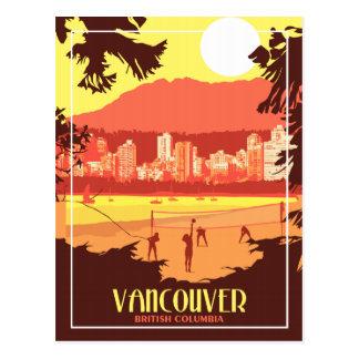 De Vancôver cartão das viagens vintage BC -