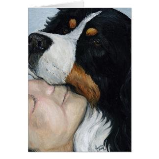 """De """"vazio Notecard da arte do cão do amor Bernie"""" Cartão"""