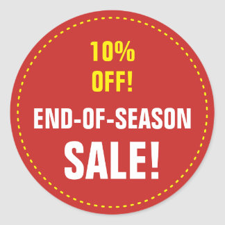"DE ""VENDA END-OF-SEASON!"" ""10% FORA!"" Etiqueta"