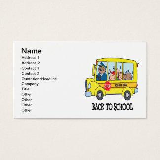 De volta à escola 3 cartão de visitas