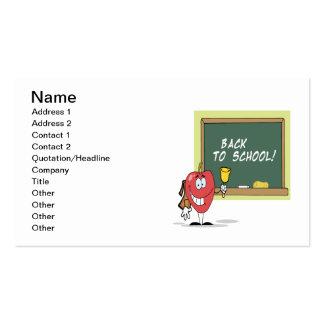 De volta à escola 4 cartão de visita