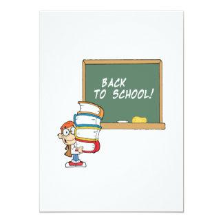 De volta à escola convite 12.7 x 17.78cm