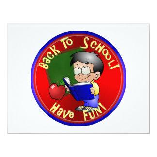 De volta à escola - livro de leitura de Little Boy Convite Personalizados