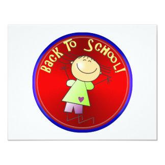 De volta à escola - menina feliz (2) convites
