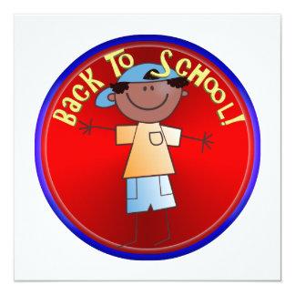 De volta à escola - menino feliz (1) convites personalizados