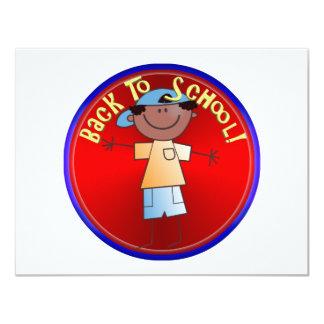 De volta à escola - menino feliz (1) convite personalizados