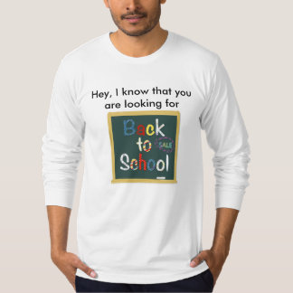 De volta à venda da escola camiseta
