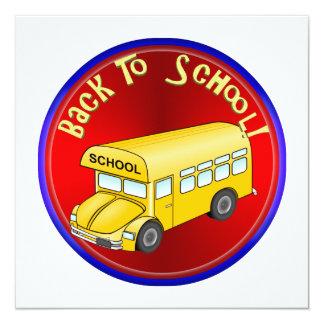 De volta ao auto escolar convite personalizado