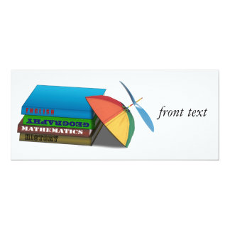 De volta ao boné da pilha de livro w/Leaning da Convite 10.16 X 23.49cm