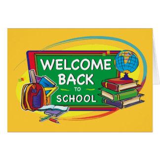 De volta ao cartão da boa vinda da escola
