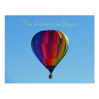 Cartão Postal De volta ao cartão do balão de ar quente da