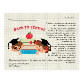 De volta ao cartão do cumprimento do professor