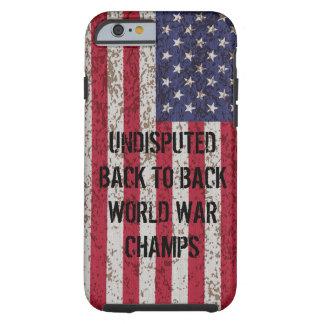 De volta ao caso traseiro do iPhone 6 dos campeões Capa Tough Para iPhone 6