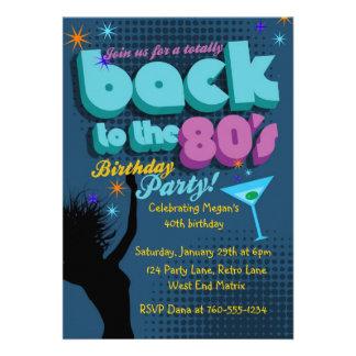 De volta ao convite de aniversário do anos 80