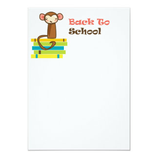 De volta ao macaco da escola convites personalizados