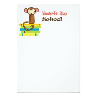 De volta ao macaco da escola convite 12.7 x 17.78cm