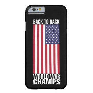 De volta aos campeões traseiros da guerra mundial capa barely there para iPhone 6