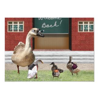 De volta aos patos da escola com trouxas convite 12.7 x 17.78cm