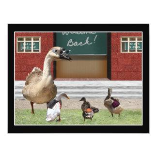 De volta aos patos da escola com trouxas convite 10.79 x 13.97cm