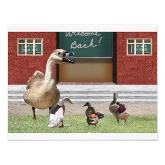De volta aos patos da escola na escola