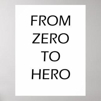 De zero ao herói - poster de Motoivational