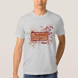Dearborn afligiu o T cabido dos homens Camiseta
