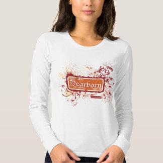 Dearborn afligiu o T do LS das senhoras T-shirt